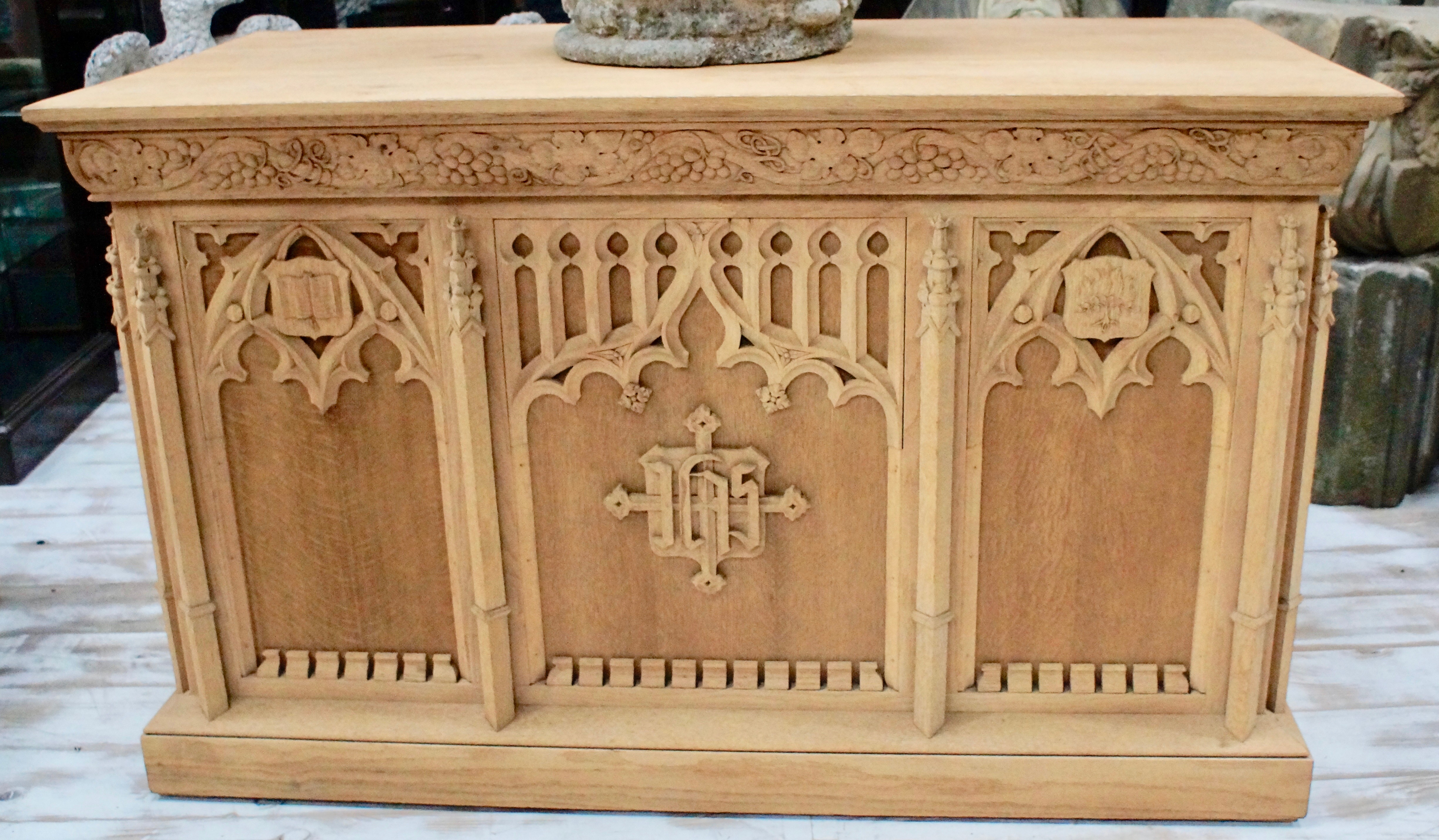 High Gothic Bleached Oak Alter Table