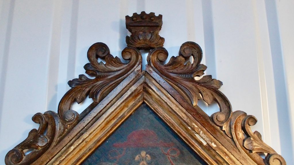 18th Century Heraldic Family Crest Clubhouse Interiors